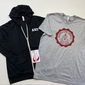 Alpha Chi Omega Light Hooded Sweatshirt Bundle L